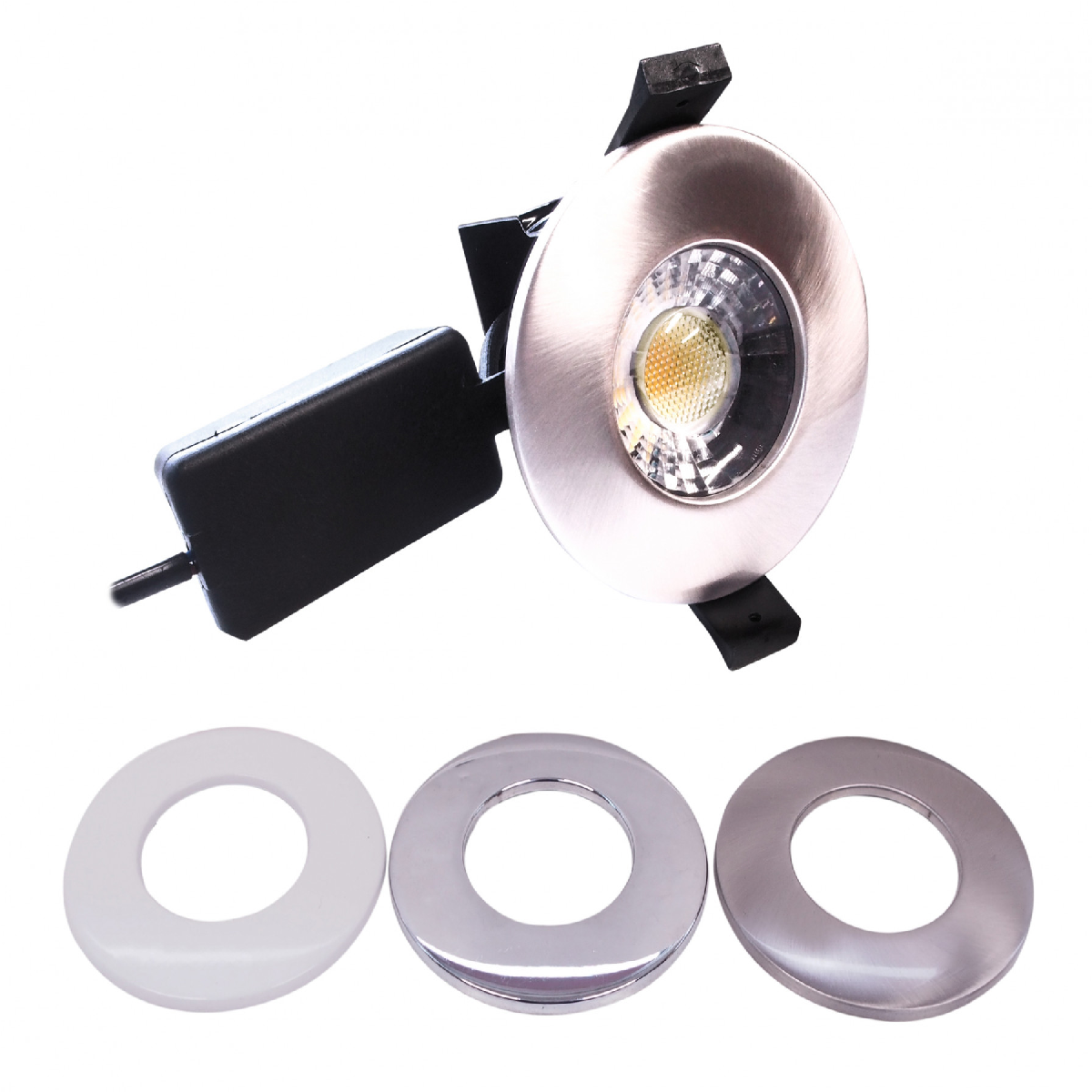 Frontline Silver Switchable COB dimmable LED downlight