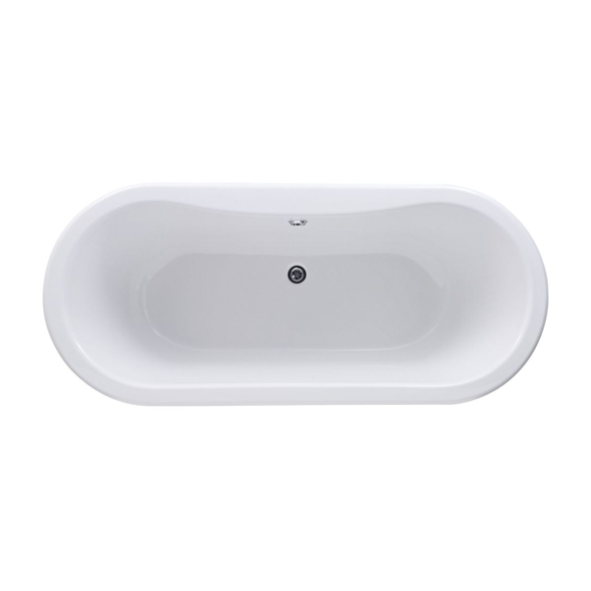 Hudson Reed Kingsbury Double Ended Freestanding Bath - Top View