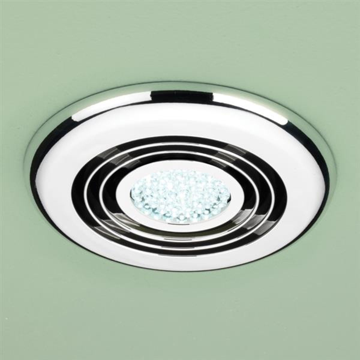 HiB Turbo Cool LED Inline Bathroom Extractor Fan in Chrome
