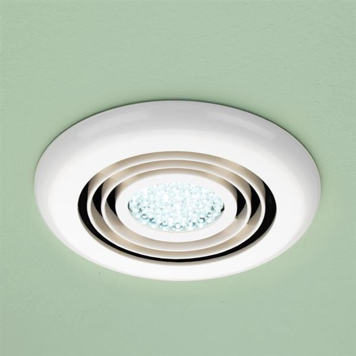 HiB Turbo Cool White LED Inline Bathroom Extractor Fan in White