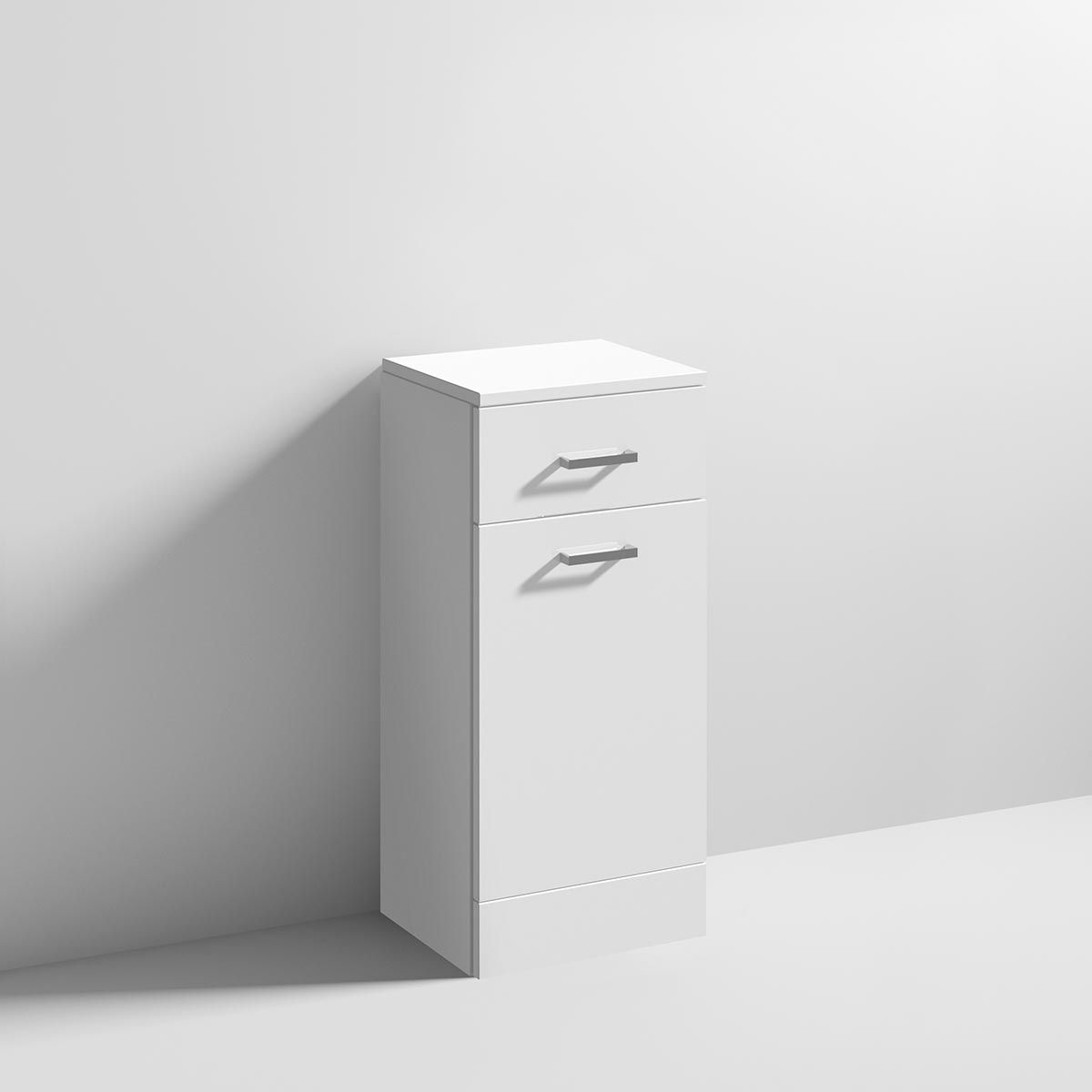 Nuie High Gloss White Laundry Basket