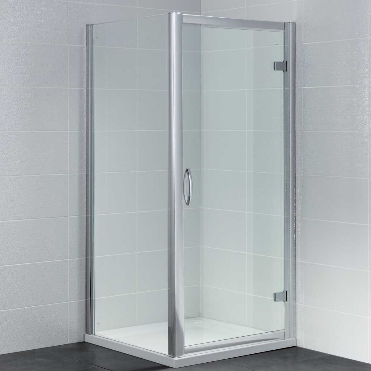 April Identiti Hinged Shower Door with Optional Side Panel