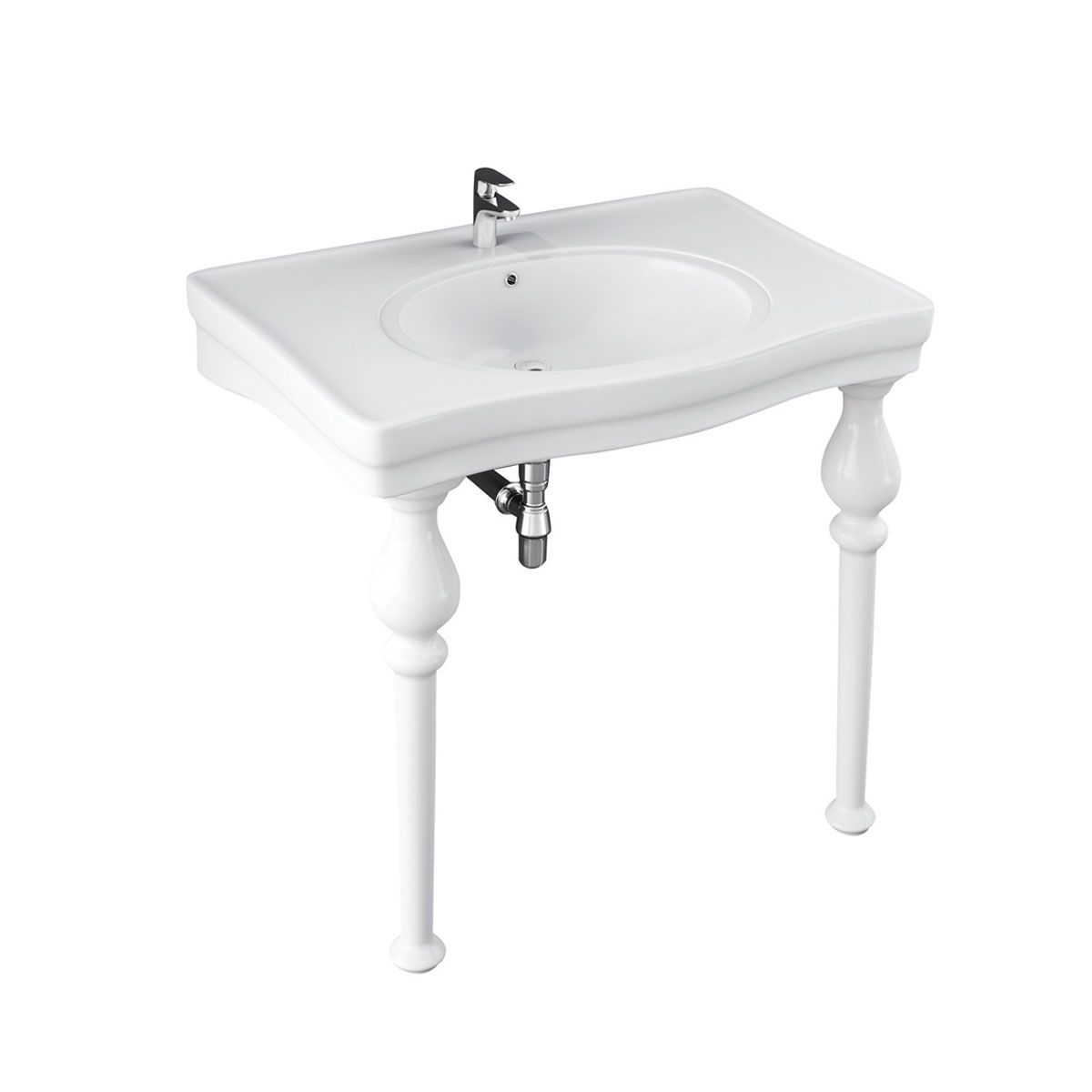 Frontline Holborn 3 Tap Hole Console Basin with Optional Ceramic Legs 845mm