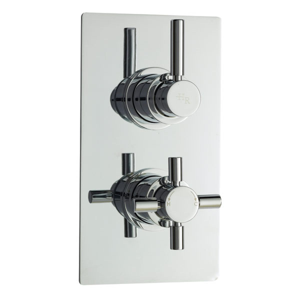 Hudson Reed Pura Twin Concealed Thermostatic Shower Valve with Diverter