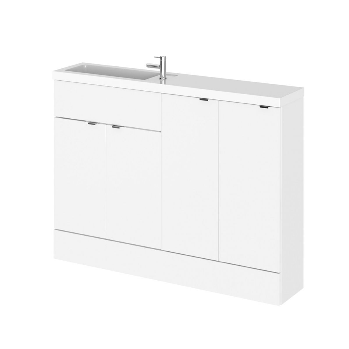 Hudson Reed Fusion Gloss White Slimline Combination Furniture Pack 1200mm
