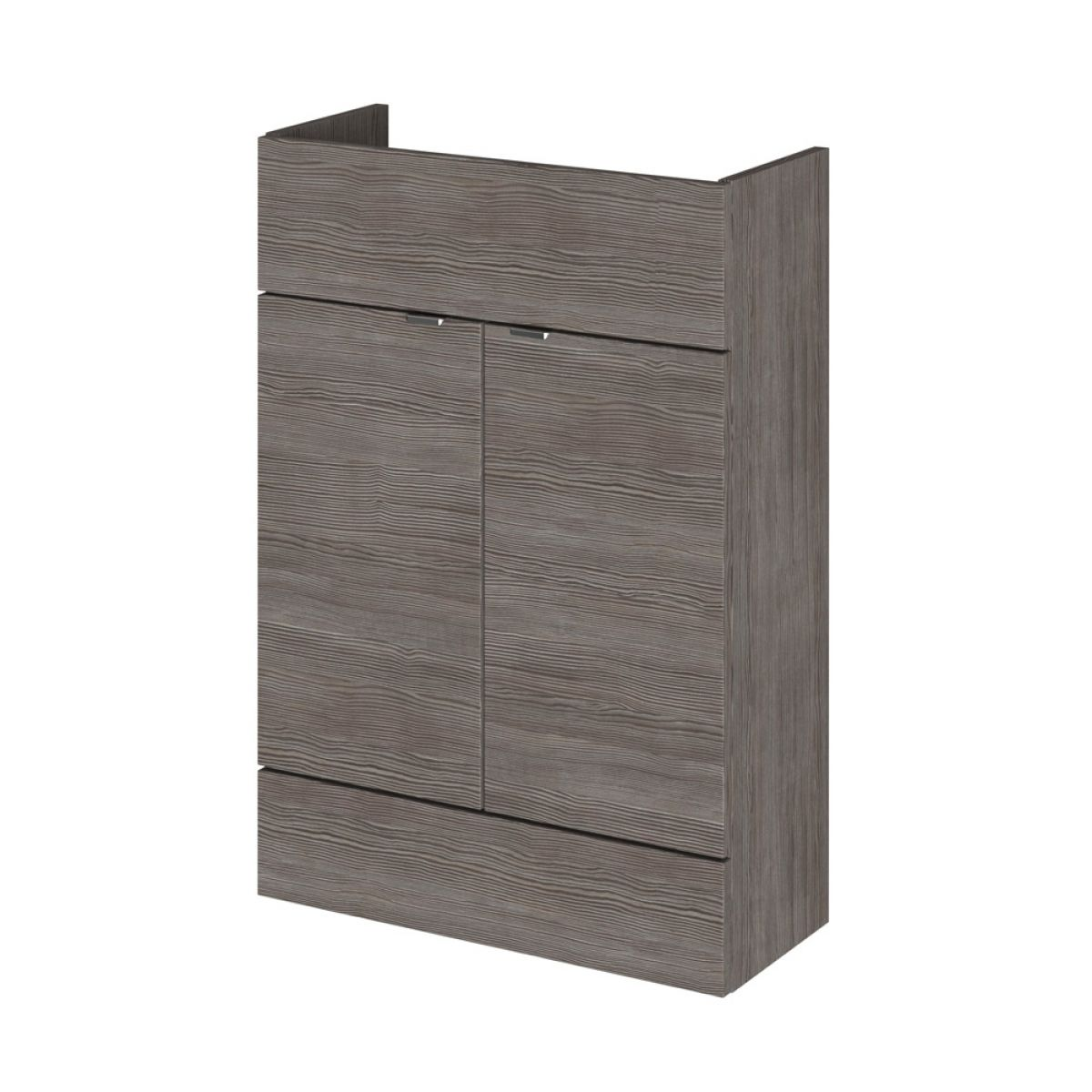 Hudson Reed Fusion Grey Avola Slimline Storage Furniture Pack 1200mm