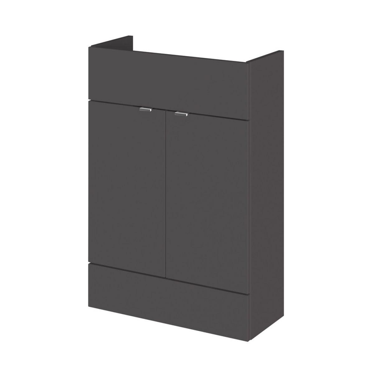 Hudson Reed Fusion Gloss Grey Slimline Combination Furniture Pack 1200mm