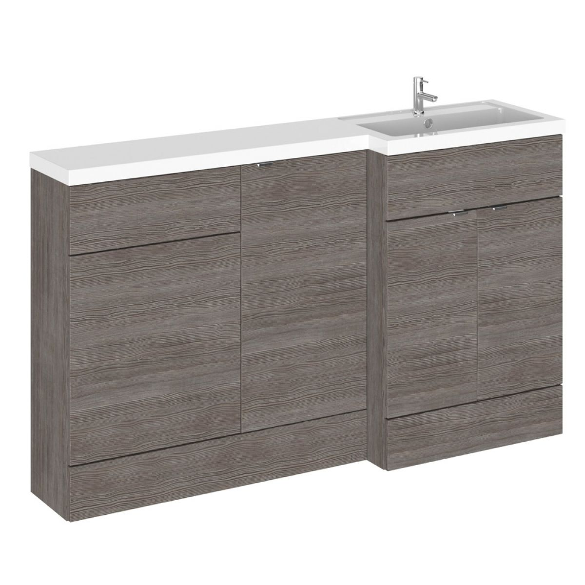 Hudson Reed Fusion Grey Avola Full Depth Combination Furniture Pack 1500mm