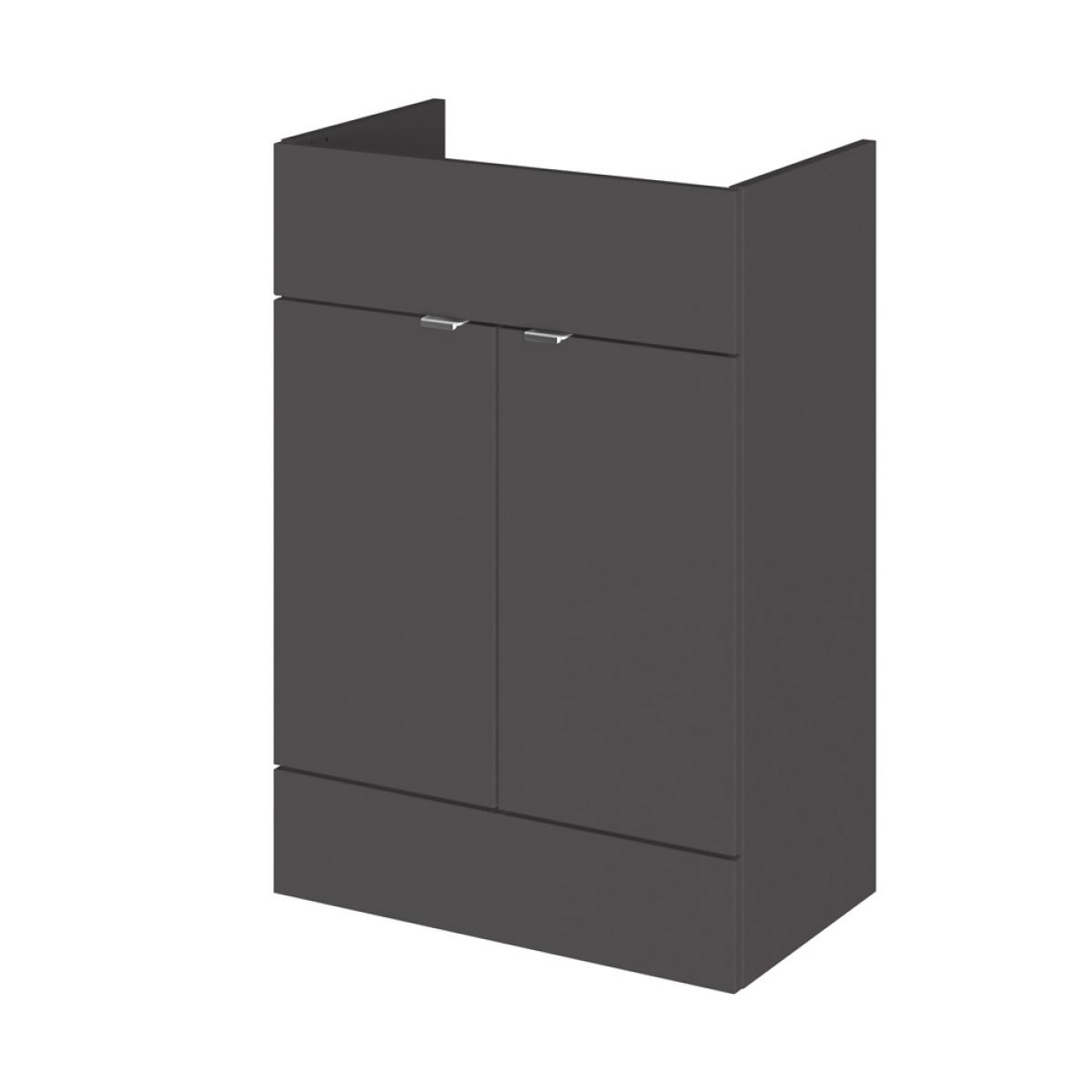 Hudson Reed Fusion Gloss Grey Full Depth Storage Furniture Pack 1500mm