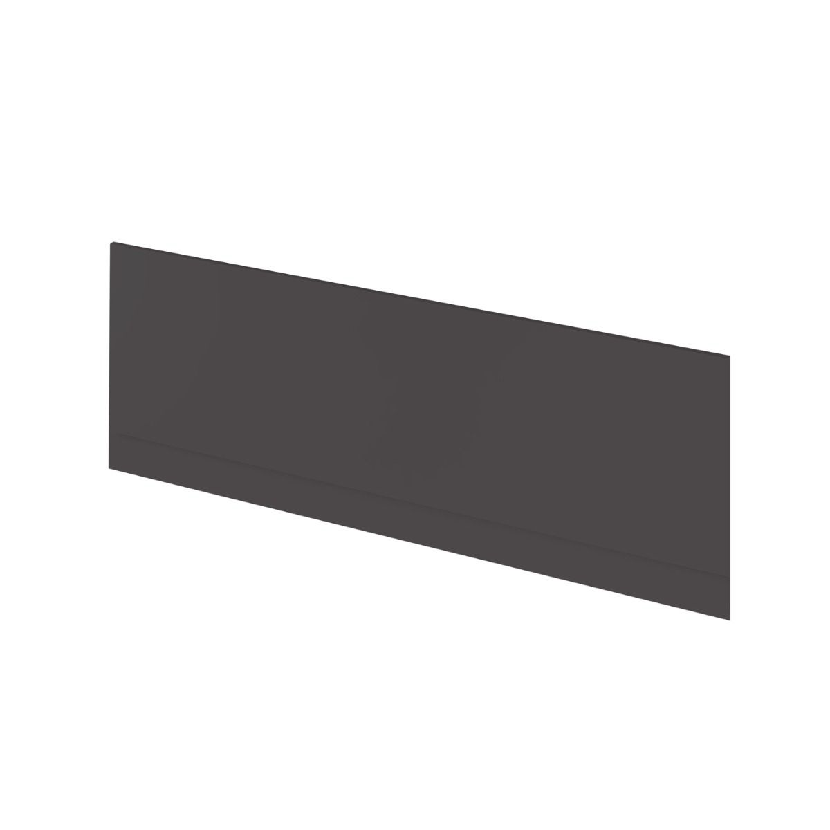 Hudson Reed Fusion Gloss Grey Front Bath Panel 1800mm