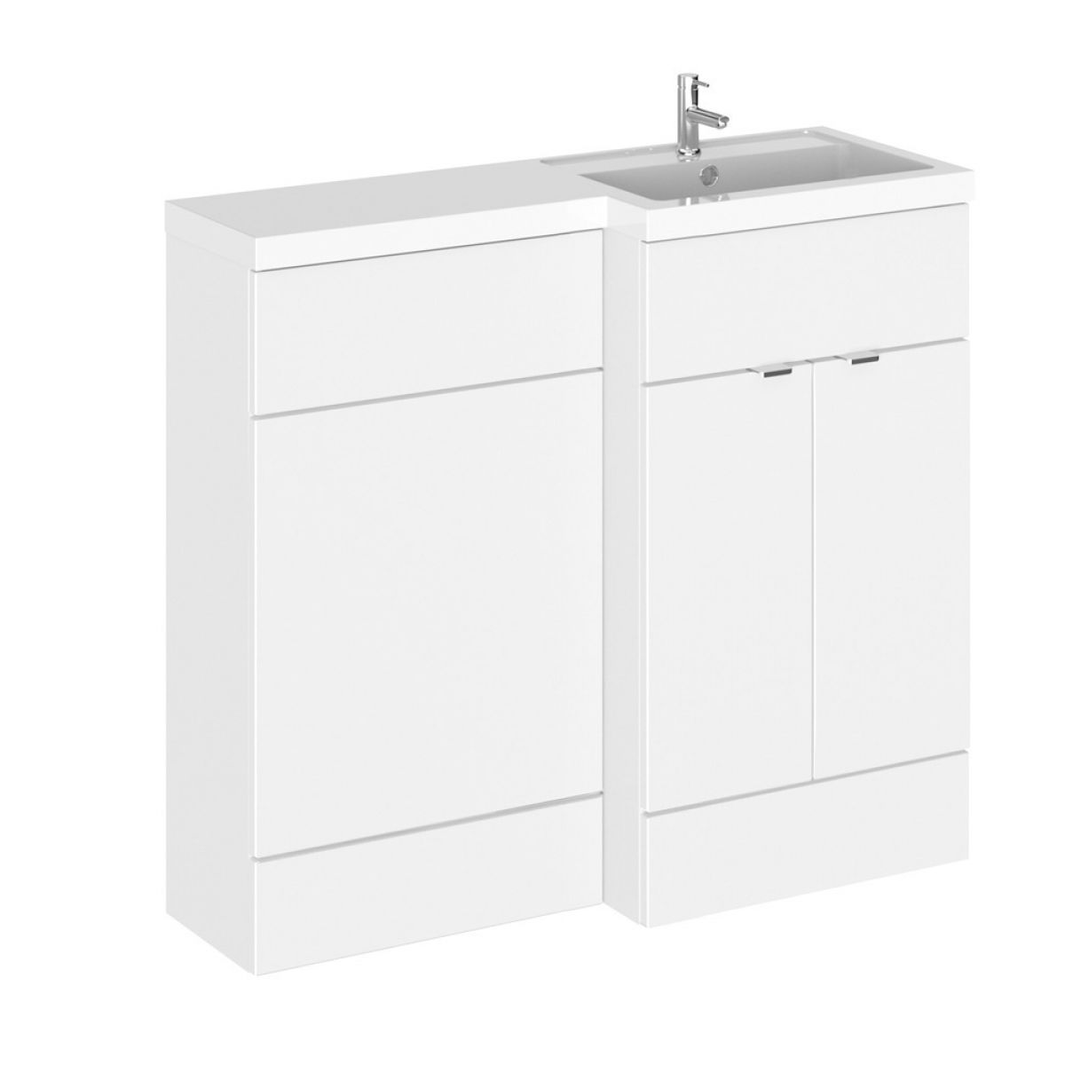 Hudson Reed Fusion Gloss White Full Depth Combination Furniture Pack 1000mm