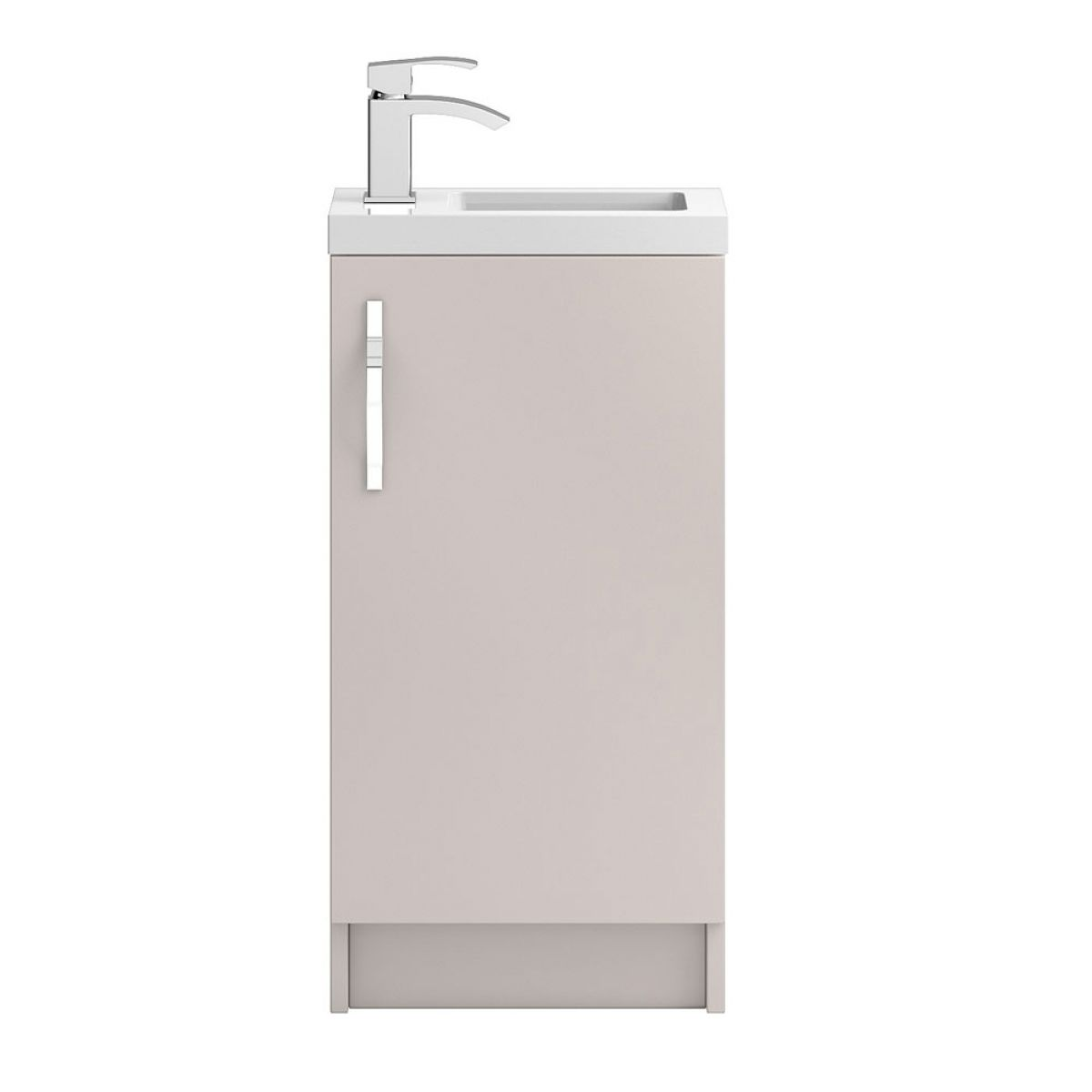 Hudson Reed Apollo Compact Gloss Cashmere Floor Standing Vanity Unit 400mm