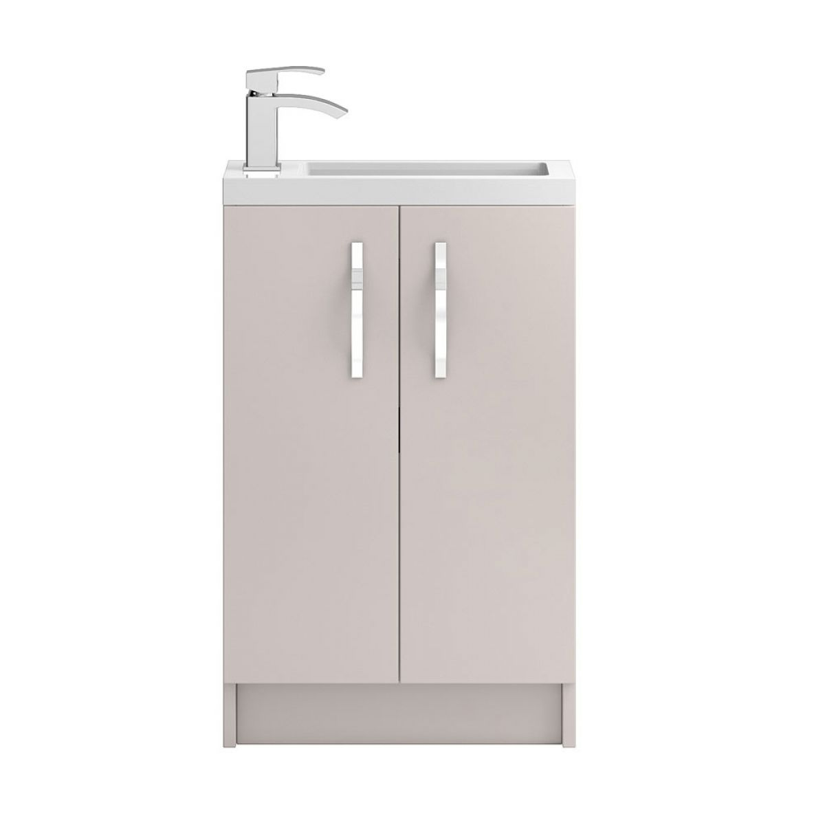 Hudson Reed Apollo Compact Gloss Cashmere Floor Standing Vanity Unit 500mm