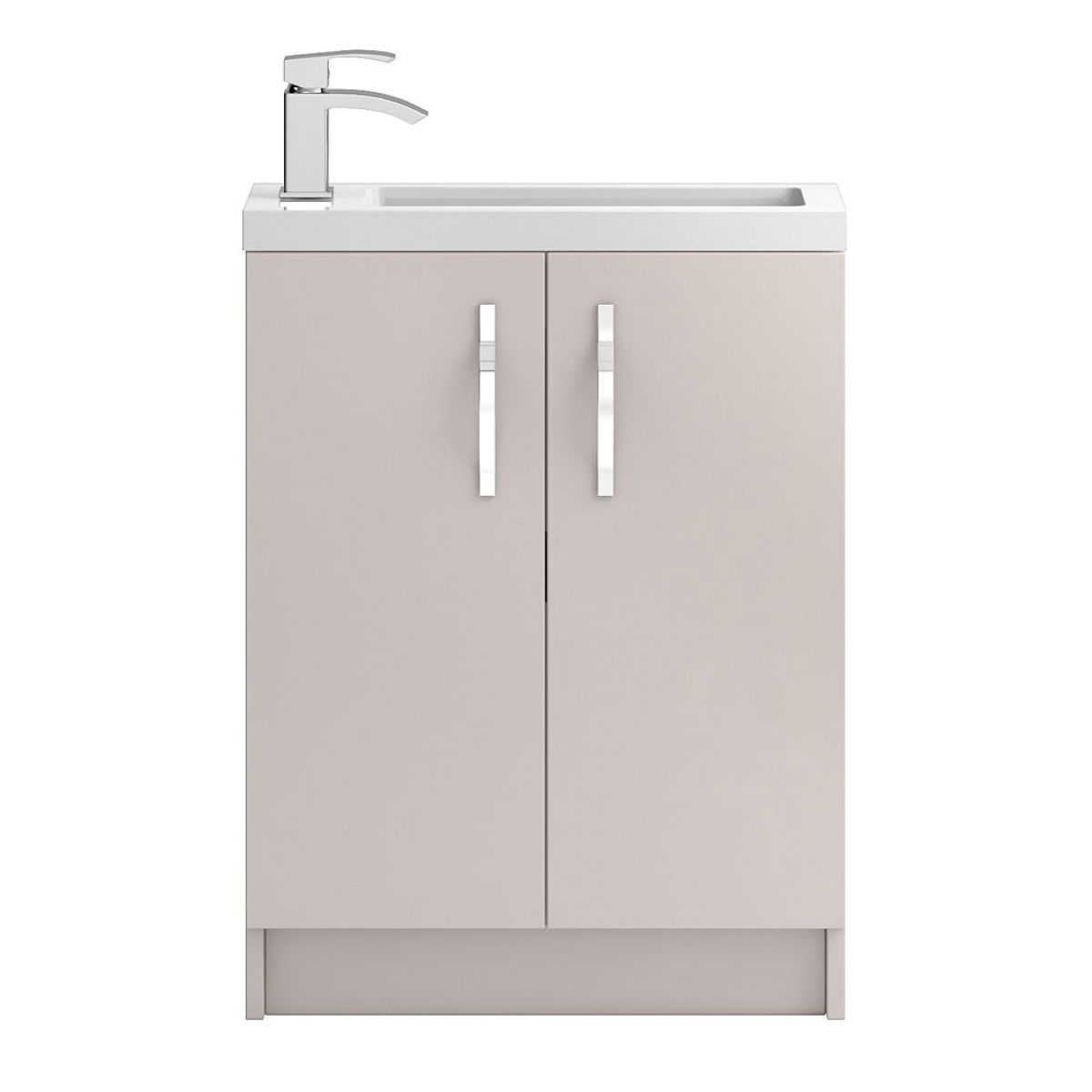 Hudson Reed Apollo Compact Gloss Cashmere Floor Standing Vanity Unit 600mm