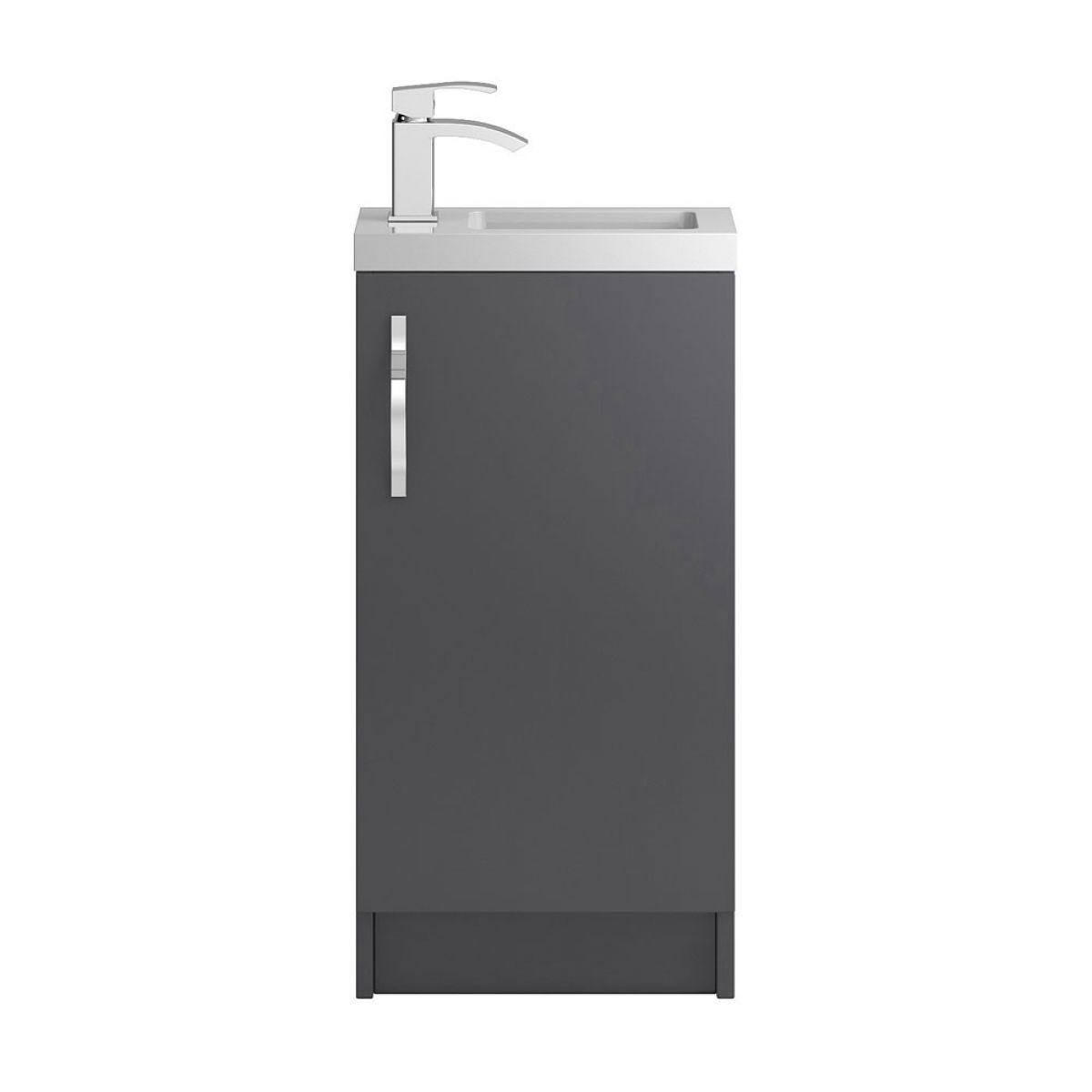 Hudson Reed Apollo Compact Gloss Grey Floor Standing Vanity Unit 400mm