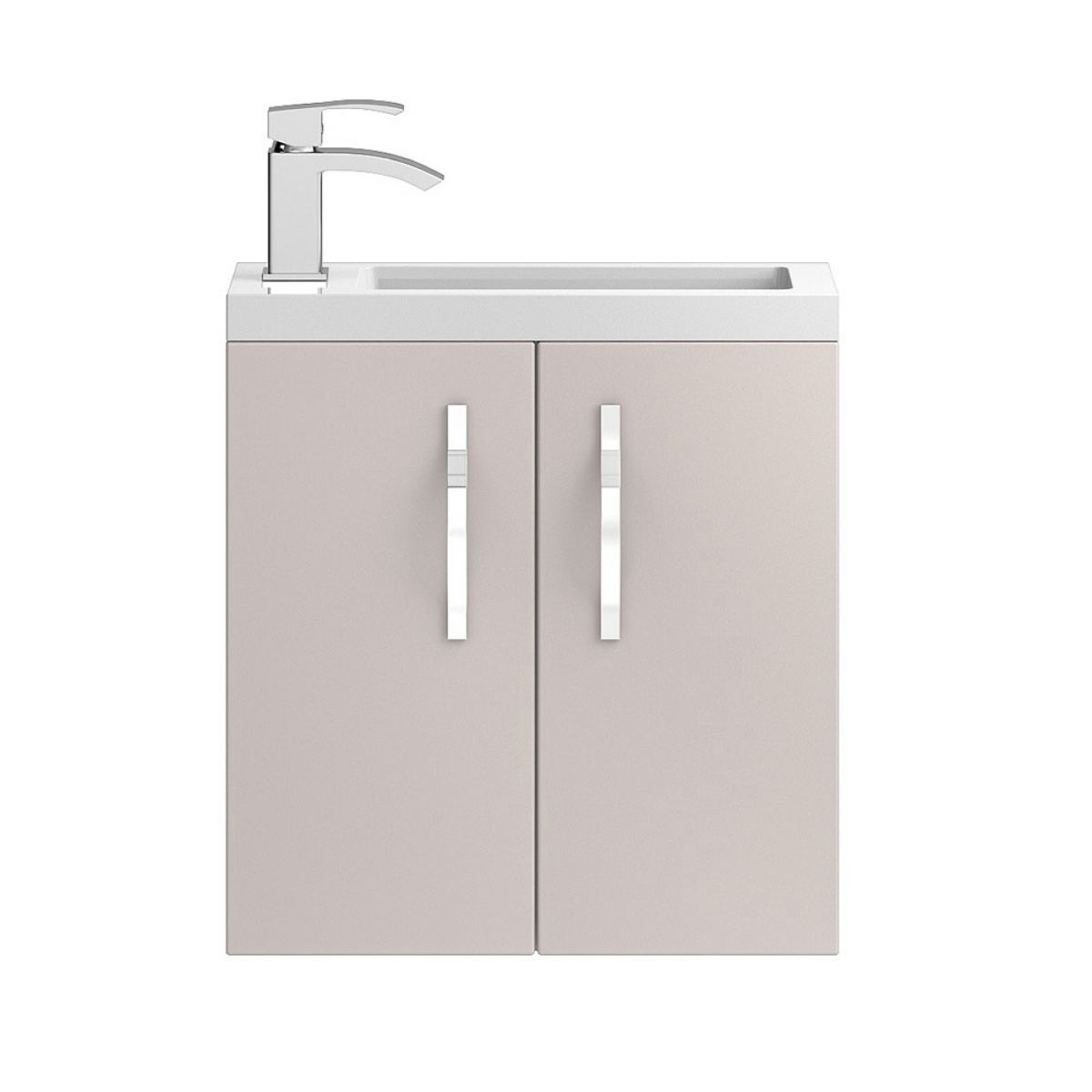 Hudson Reed Apollo Compact Gloss Cashmere Wall Hung Vanity Unit 500mm