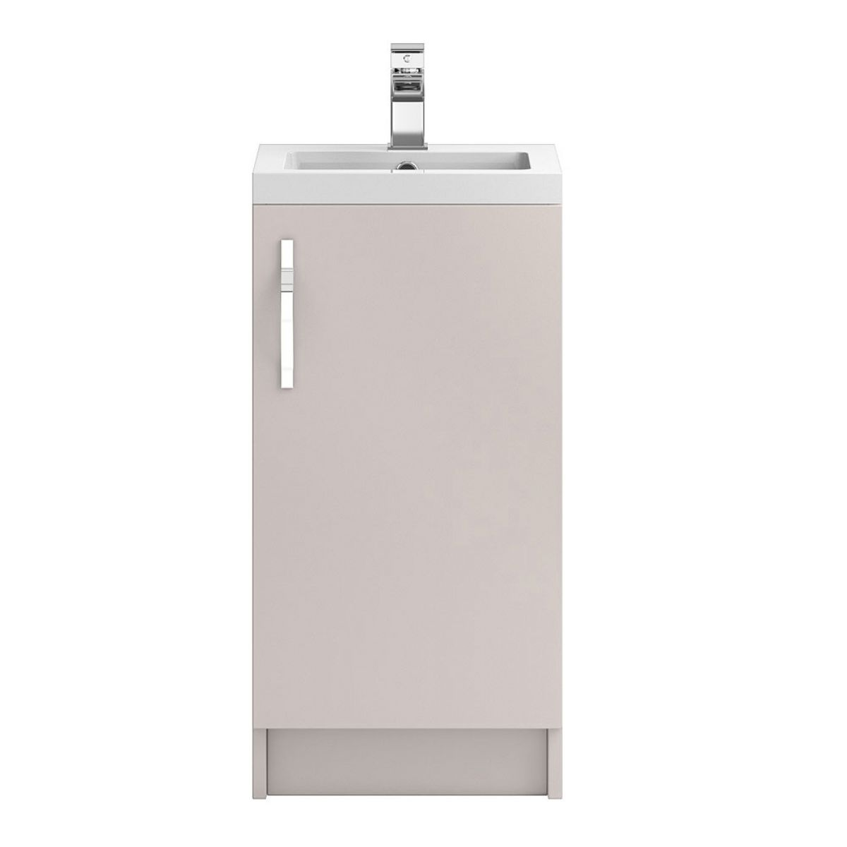 Hudson Reed Apollo Gloss Cashmere Floor Standing Vanity Unit 400mm