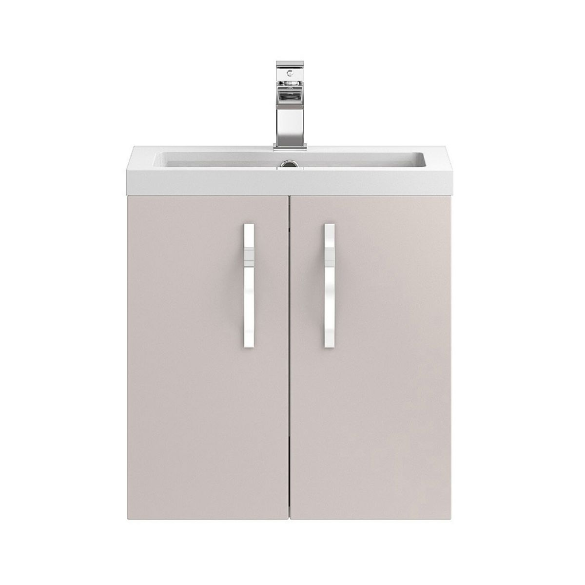 Hudson Reed Apollo Gloss Cashmere Wall Hung Vanity Unit 500mm