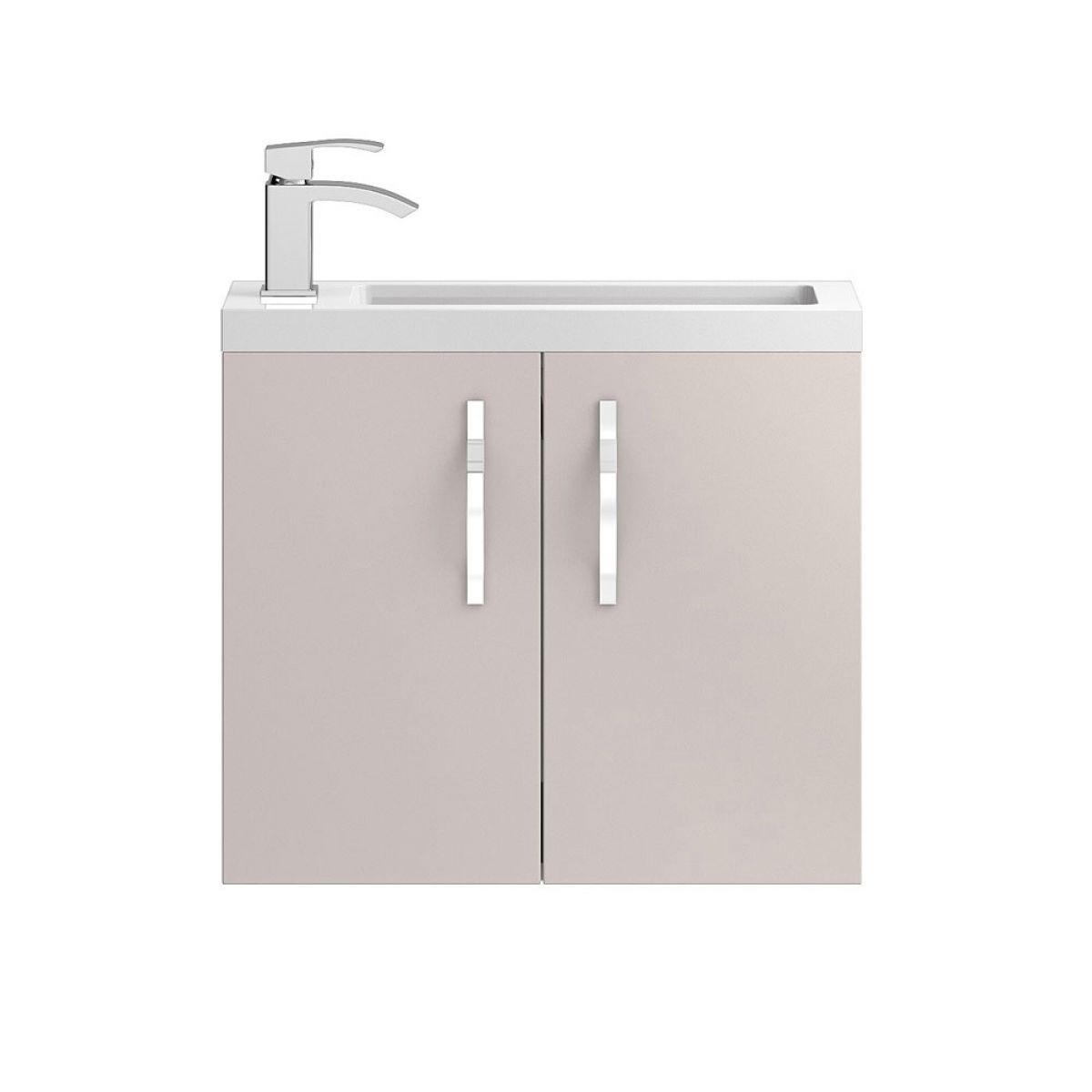 Hudson Reed Apollo Compact Gloss Cashmere Wall Hung Vanity Unit 600mm