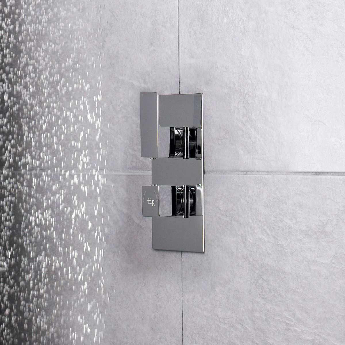 Hudson Reed Art Twin Concealed Thermostatic Shower Valve Lifestyle