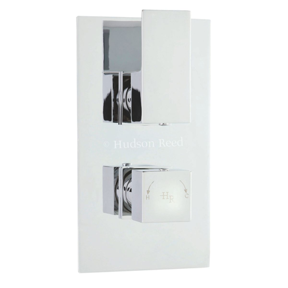 Hudson Reed Art Twin Concealed Thermostatic Shower Valve with Diverter