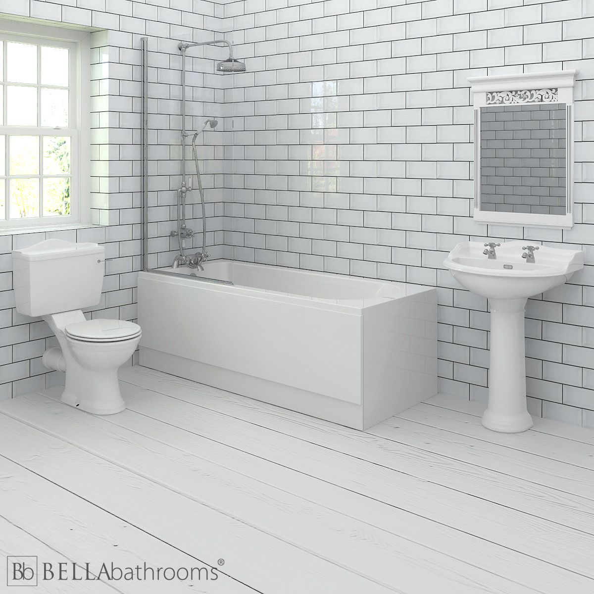Hudson Reed Chancery Shower Bath Suite