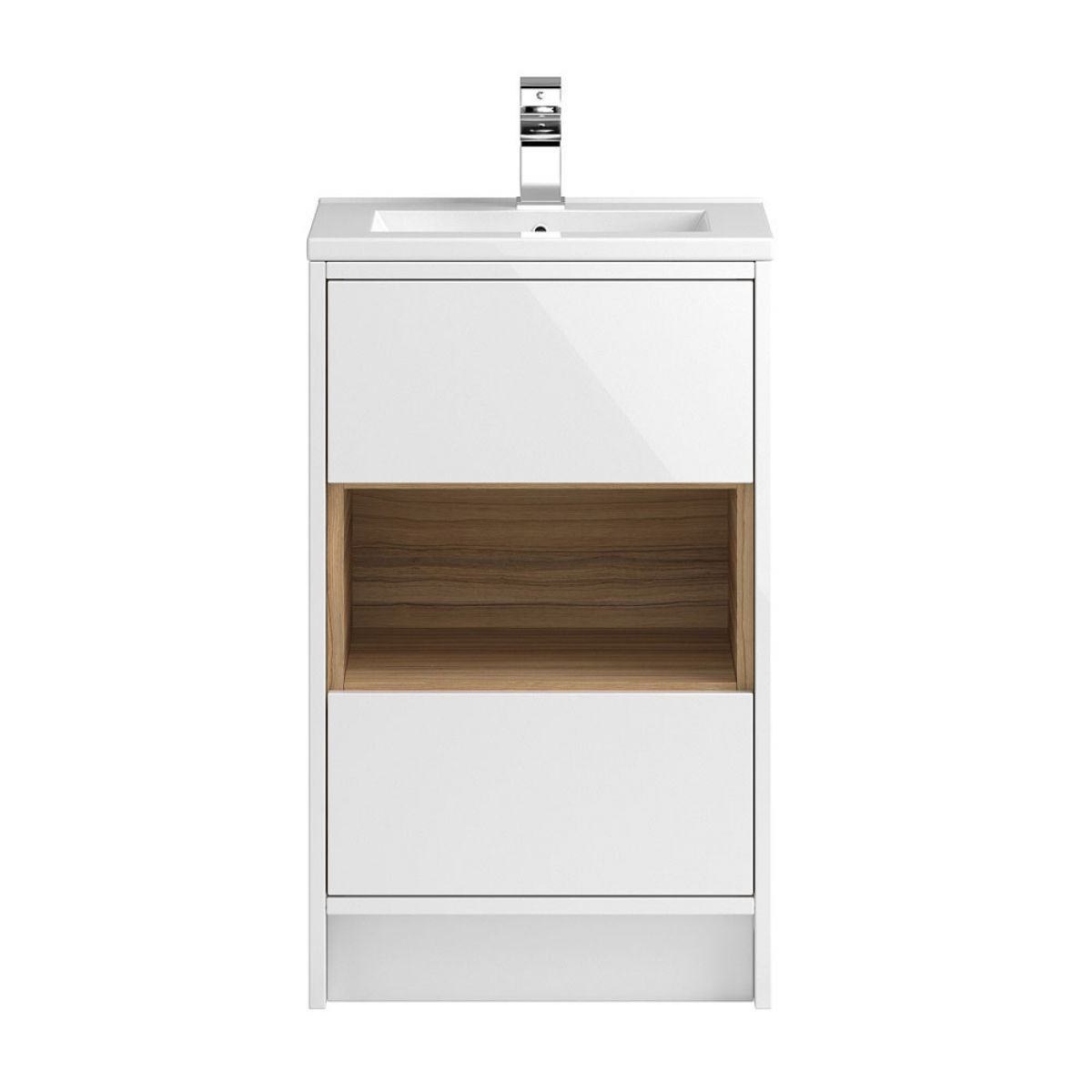 Hudson Reed Coast White Gloss Floor Standing Vanity Unit 500mm