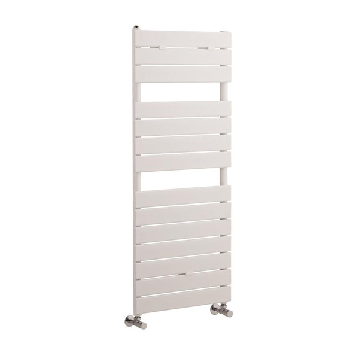 Hudson Reed Flat Panel White Heated Towel Rail