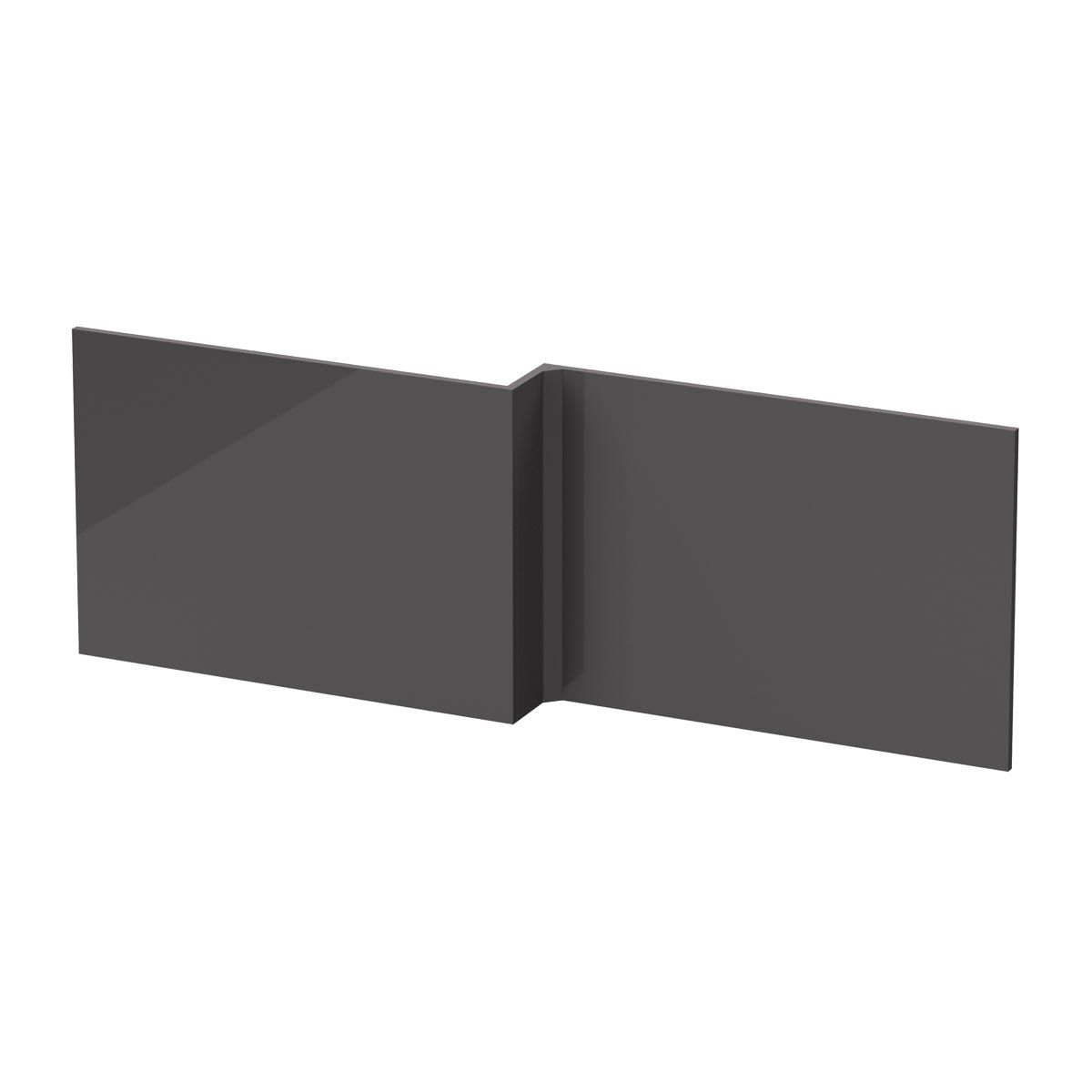 Hudson Reed Fusion Gloss Grey Front Shower Bath Panel 1700mm