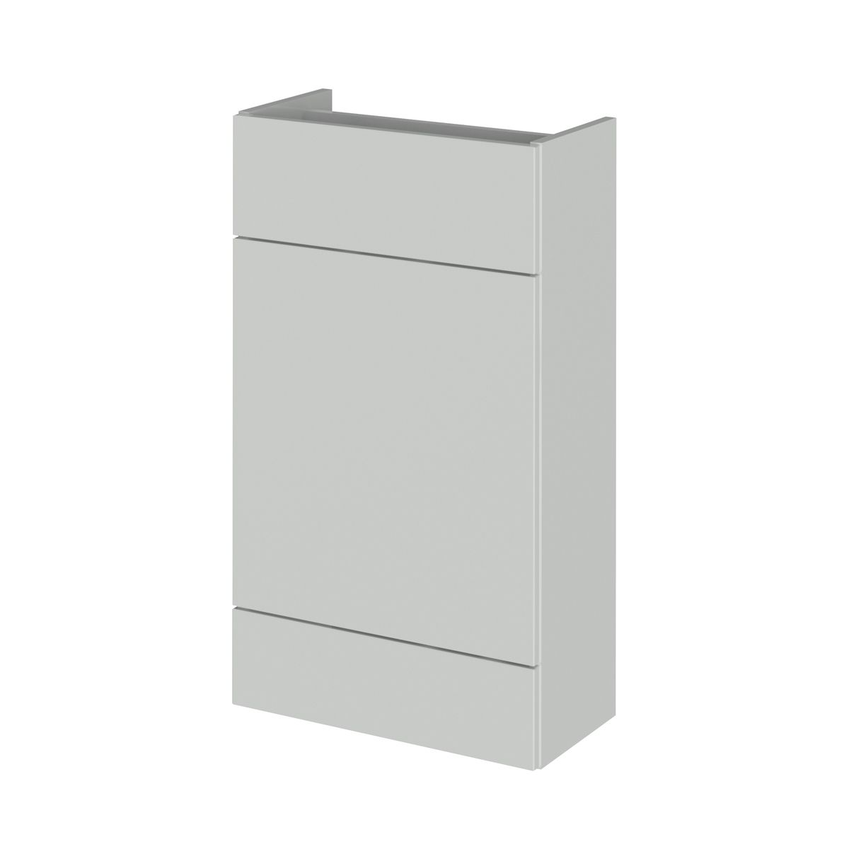 Hudson Reed Fusion Gloss Grey Mist WC Unit 500mm