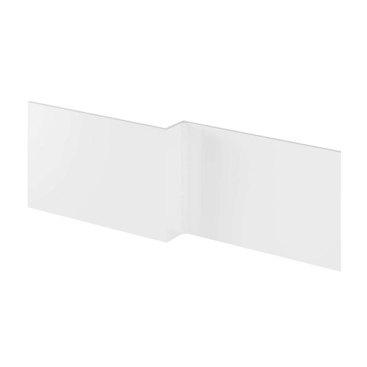 Hudson Reed Fusion Gloss White Front Shower Bath Panel 1700mm