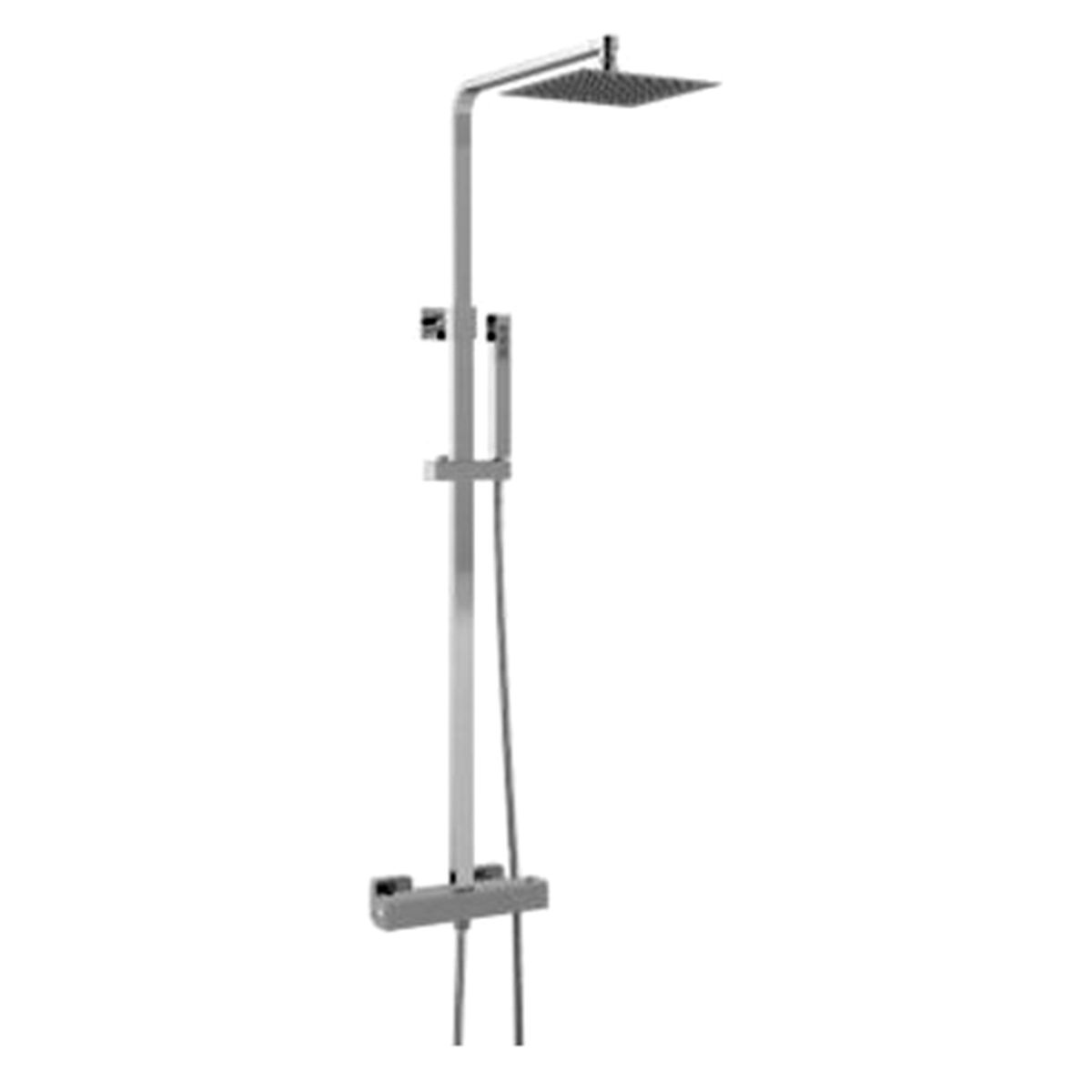 Hudson Reed Luxury Square Brass Complete Shower Kit