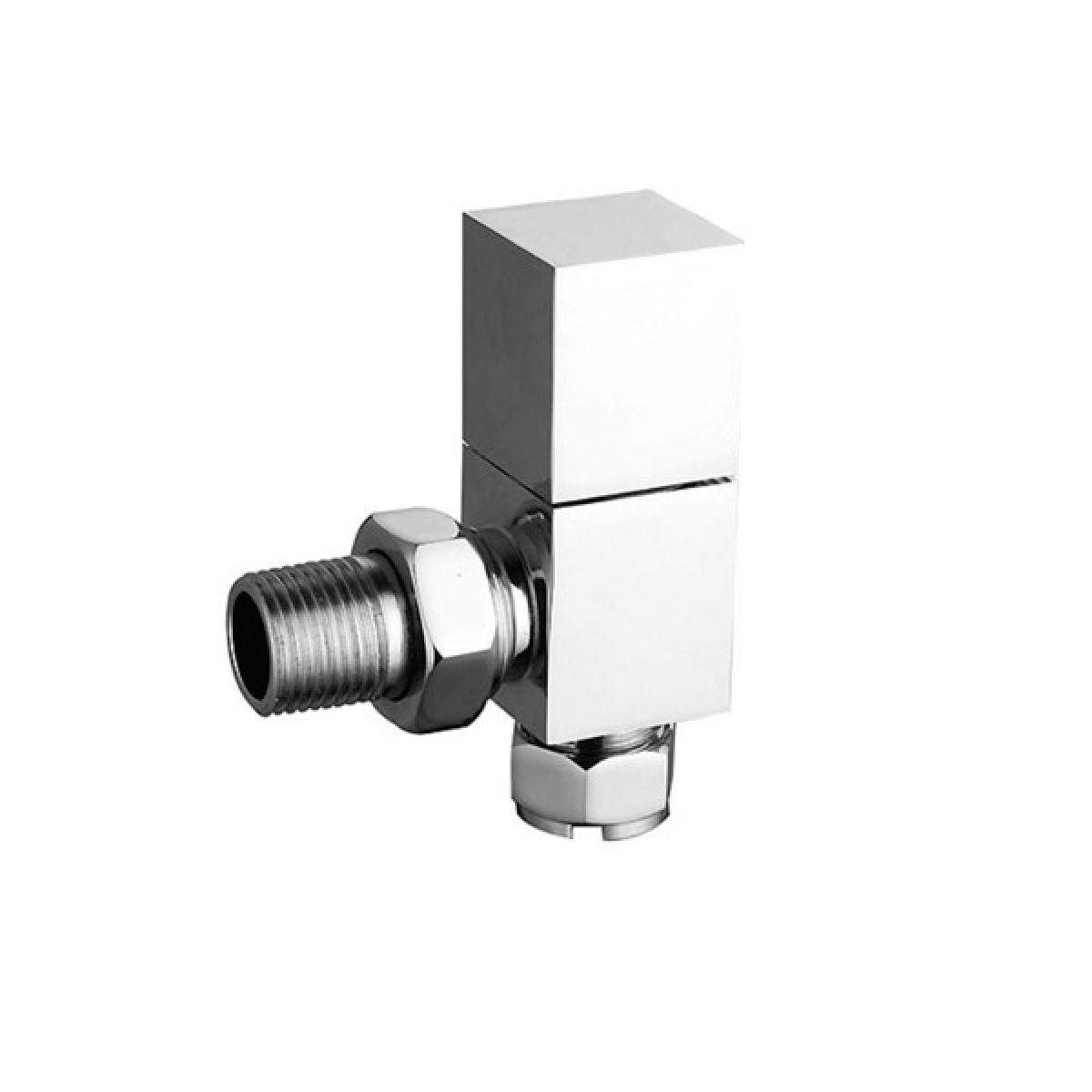 Hudson Reed Pure Square Radiator Angled Valves