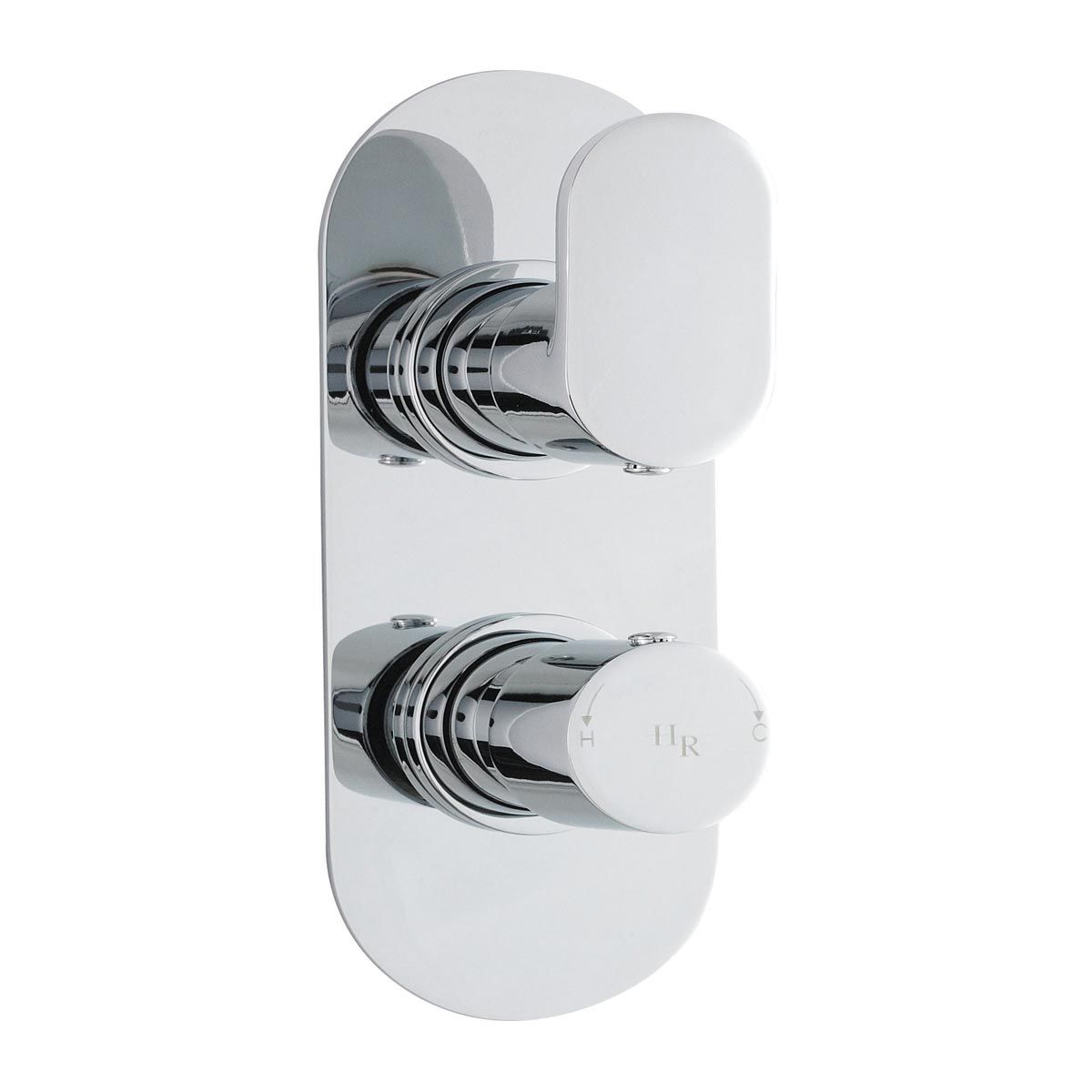 Hudson Reed Reign Rounded Twin Concealed Thermostatic Shower Valve