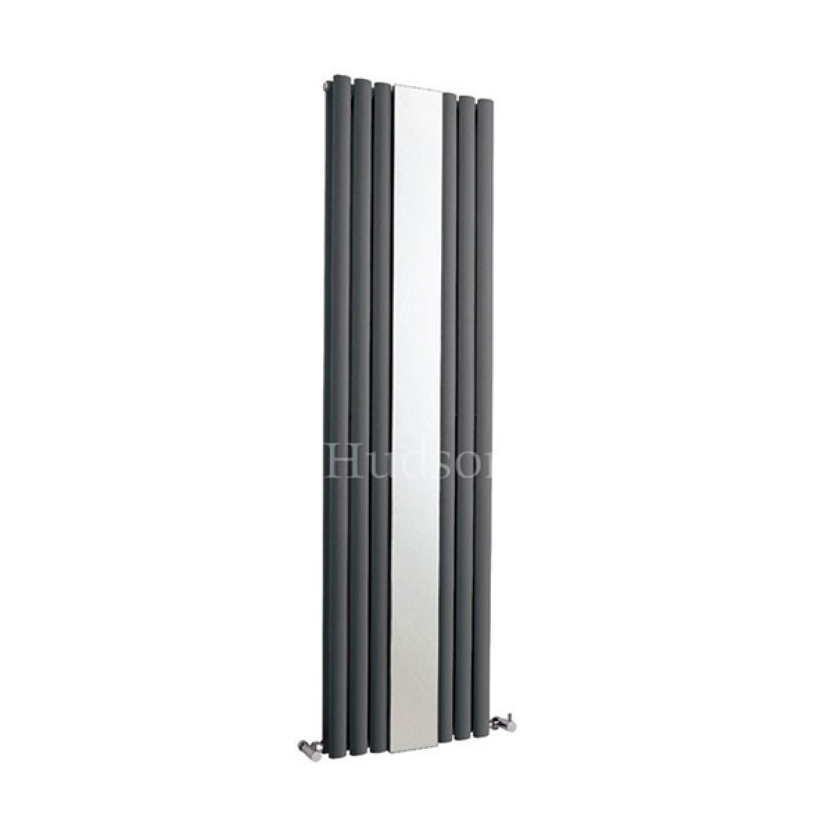 Hudson Reed Revive Anthracite Designer Radiator with Mirror 1800 x 499mm