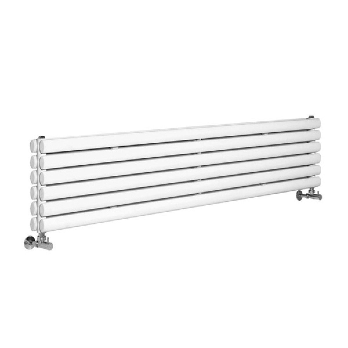 Hudson Reed Revive White Horizontal Double Panel Designer Radiator