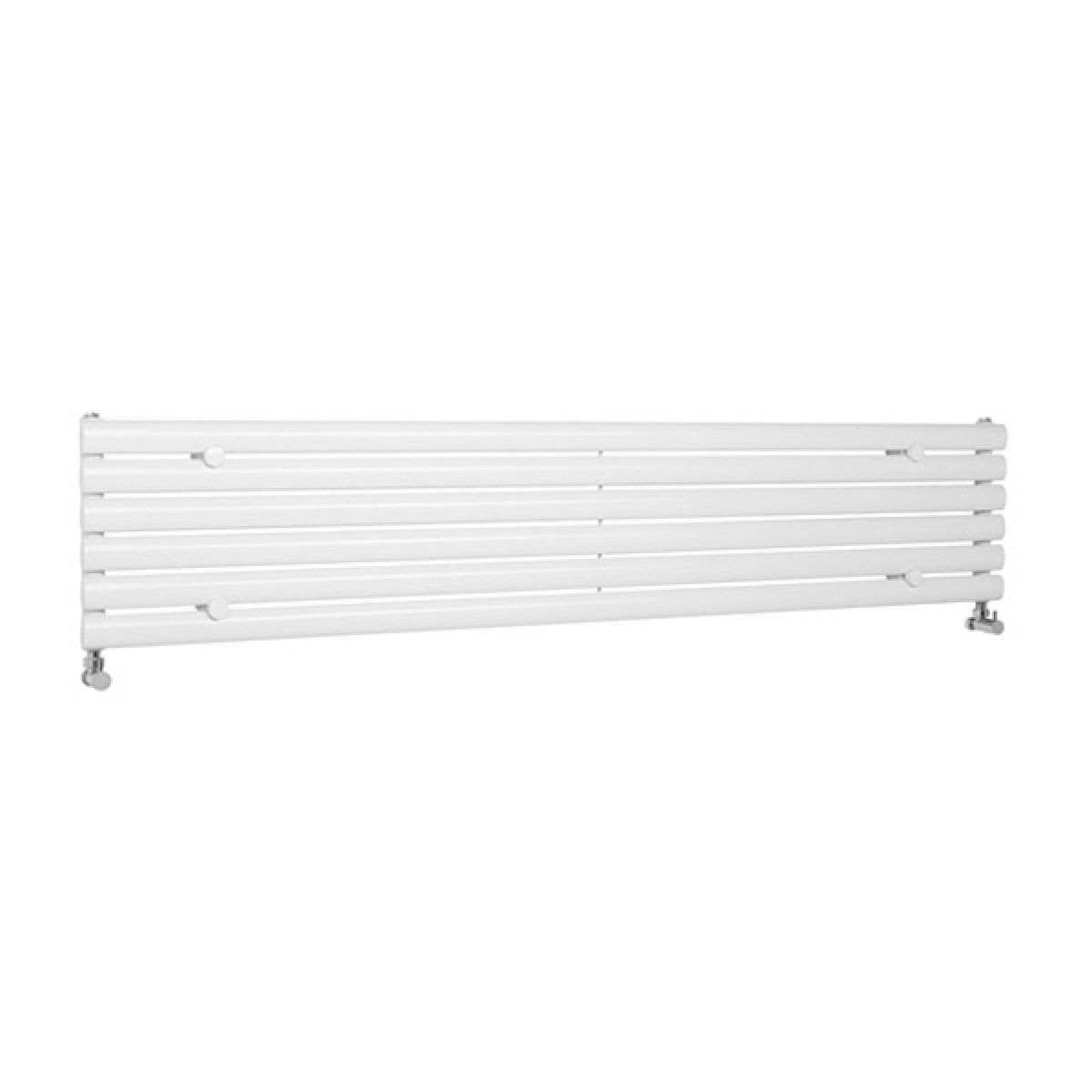 Hudson Reed Revive White Horizontal Single Panel Designer Radiator