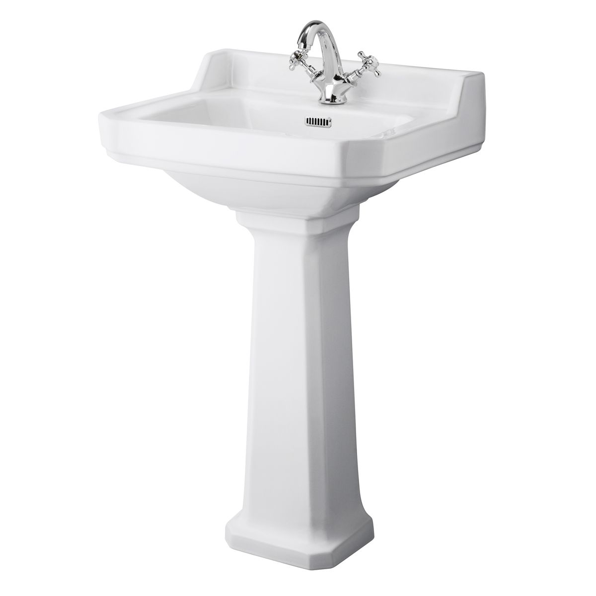 Hudson Reed 1 Tap Hole Basin with Full Pedestal