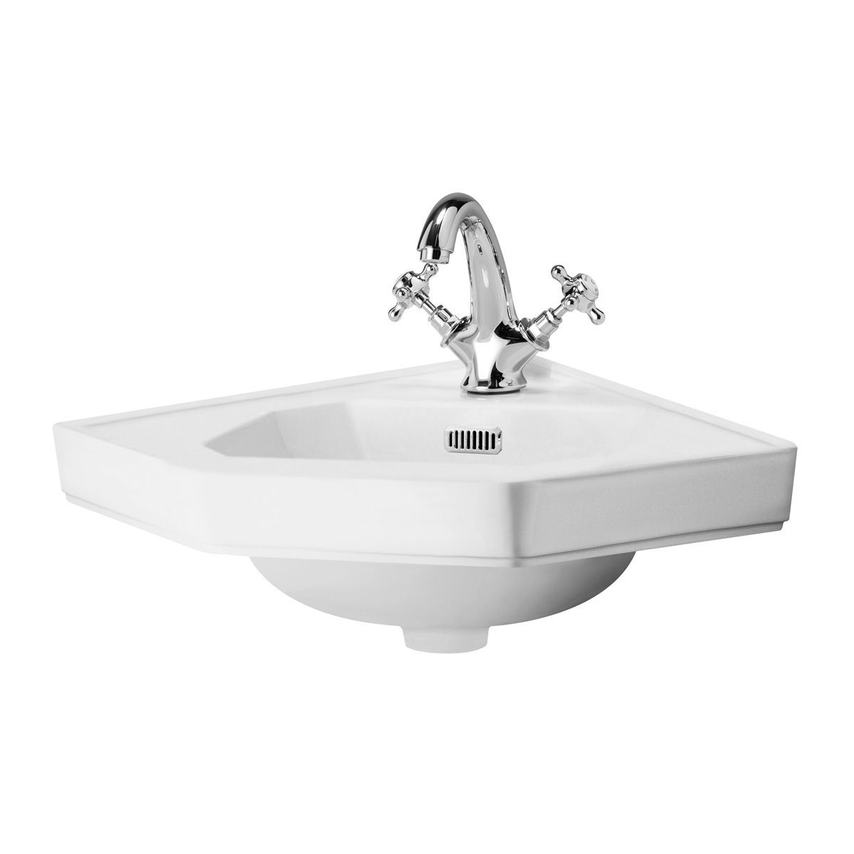 Hudson Reed Richmond 1 Tap Hole Corner Basin 420mm