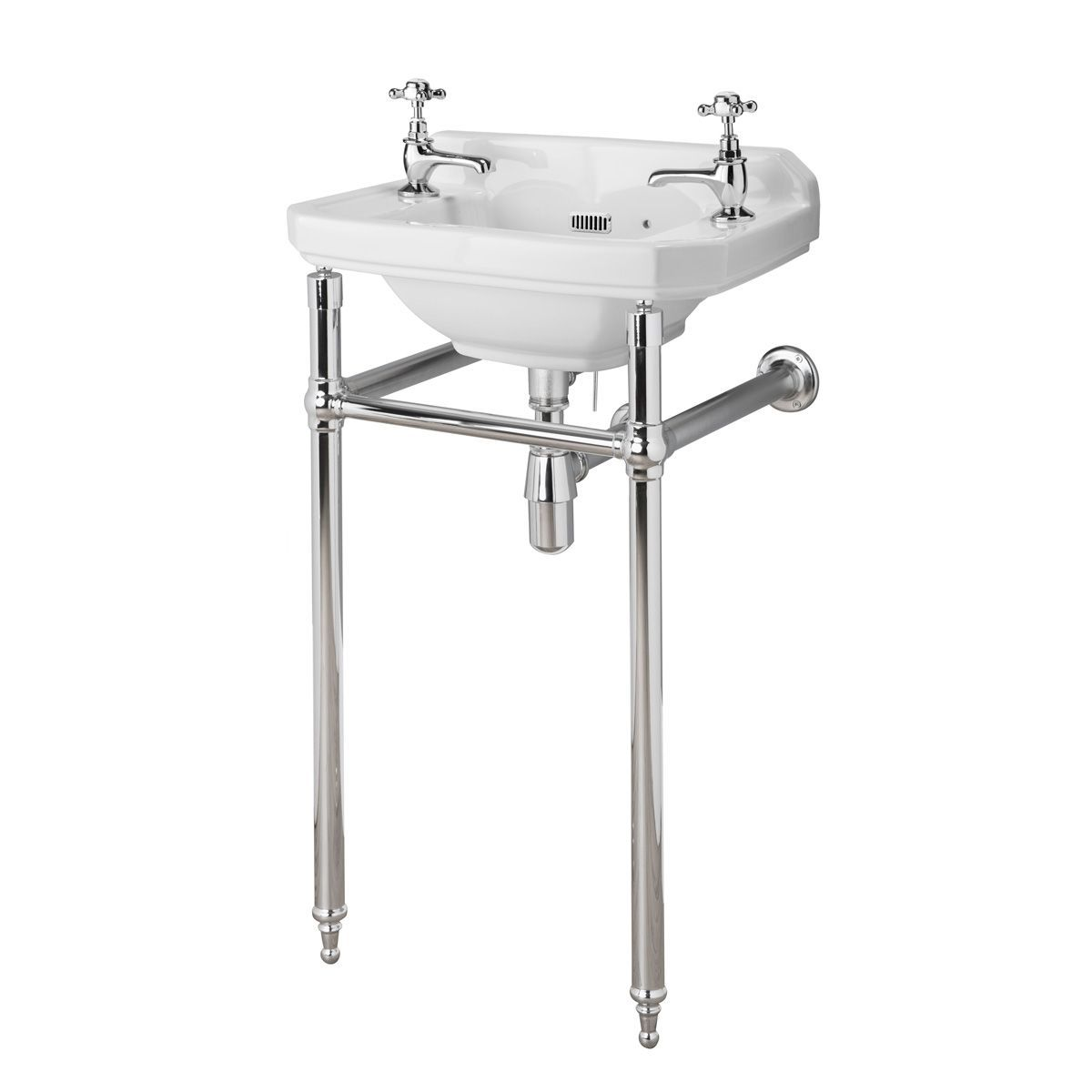 Hudson Reed Richmond Cloakroom Basin with Washstand 515mm