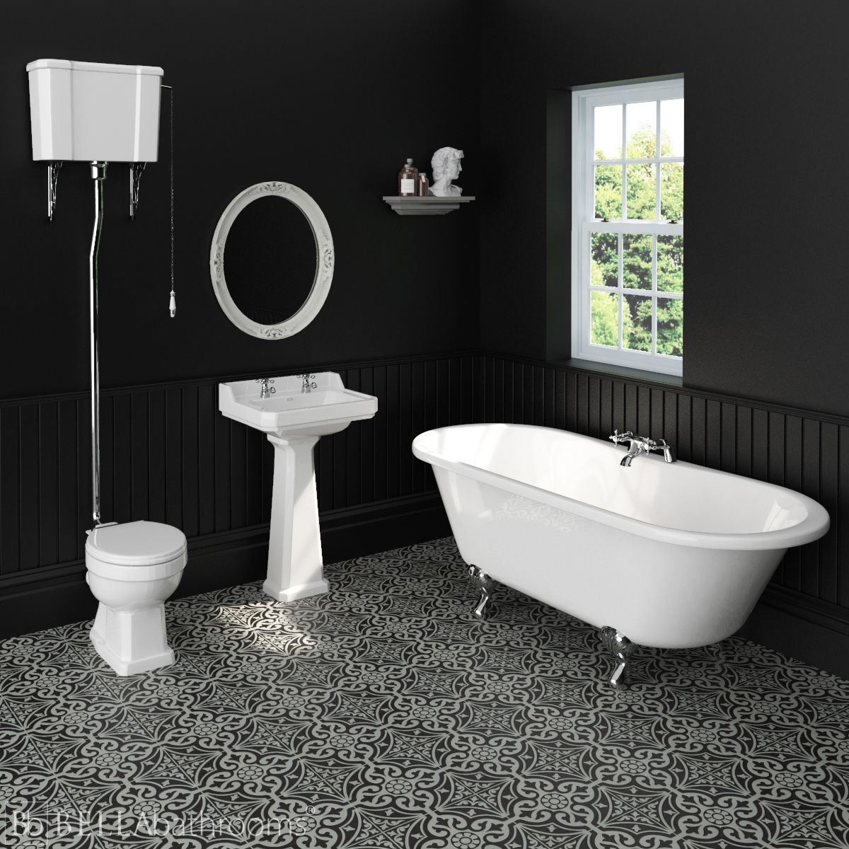 Hudson Reed Richmond High level Traditional Bathroom Suite