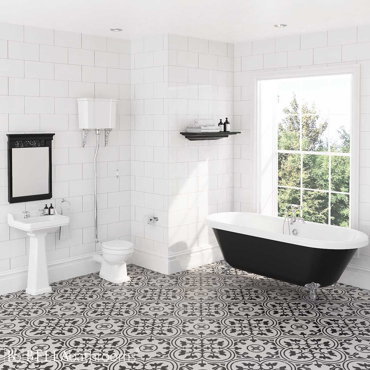 Hudson Reed Richmond High Level Traditional Bathroom Suite with Freestanding Bath
