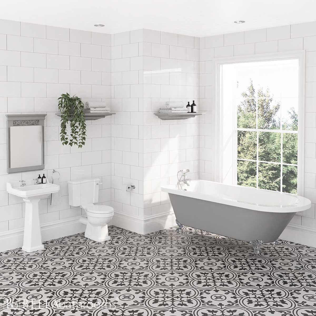Hudson Reed Richmond Traditional Bathroom Suite with Bentham Freestanding Bath