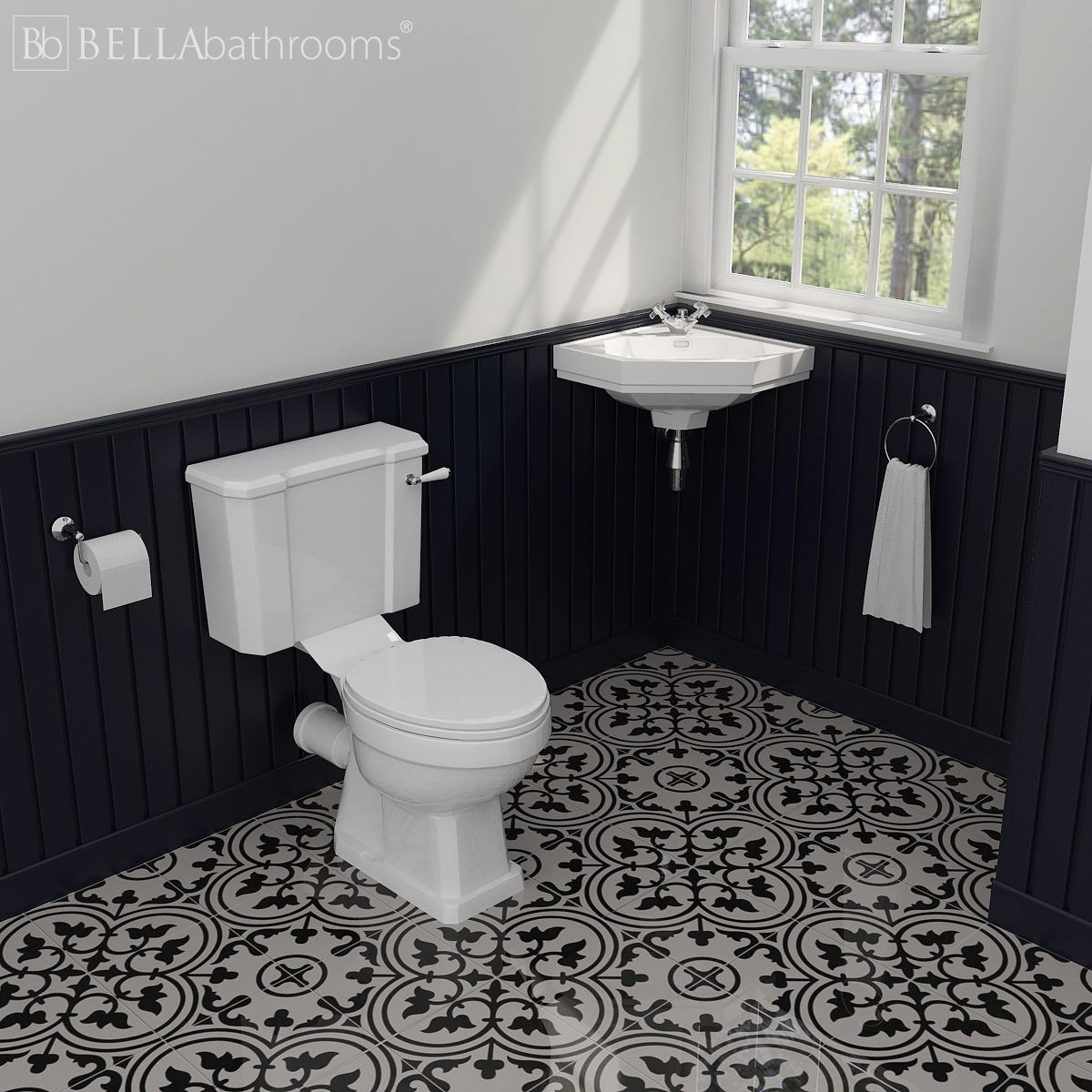 Hudson Reed Richmond Traditional Low Level Cloakroom Suite