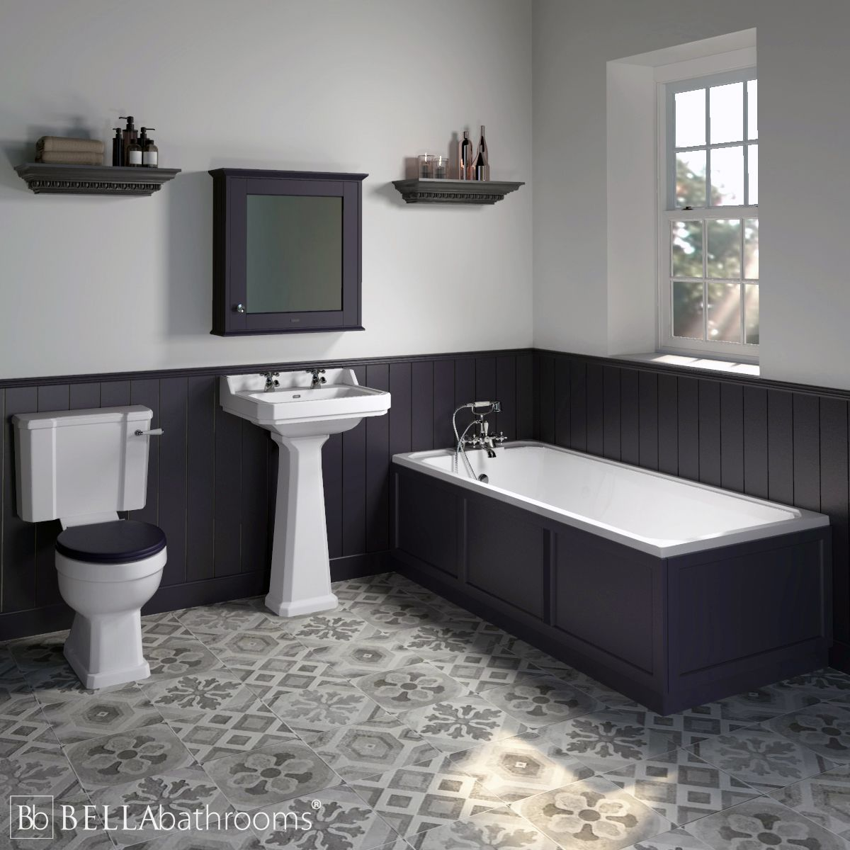 Hudson Reed Richmond Traditional Suite Twilight Blue