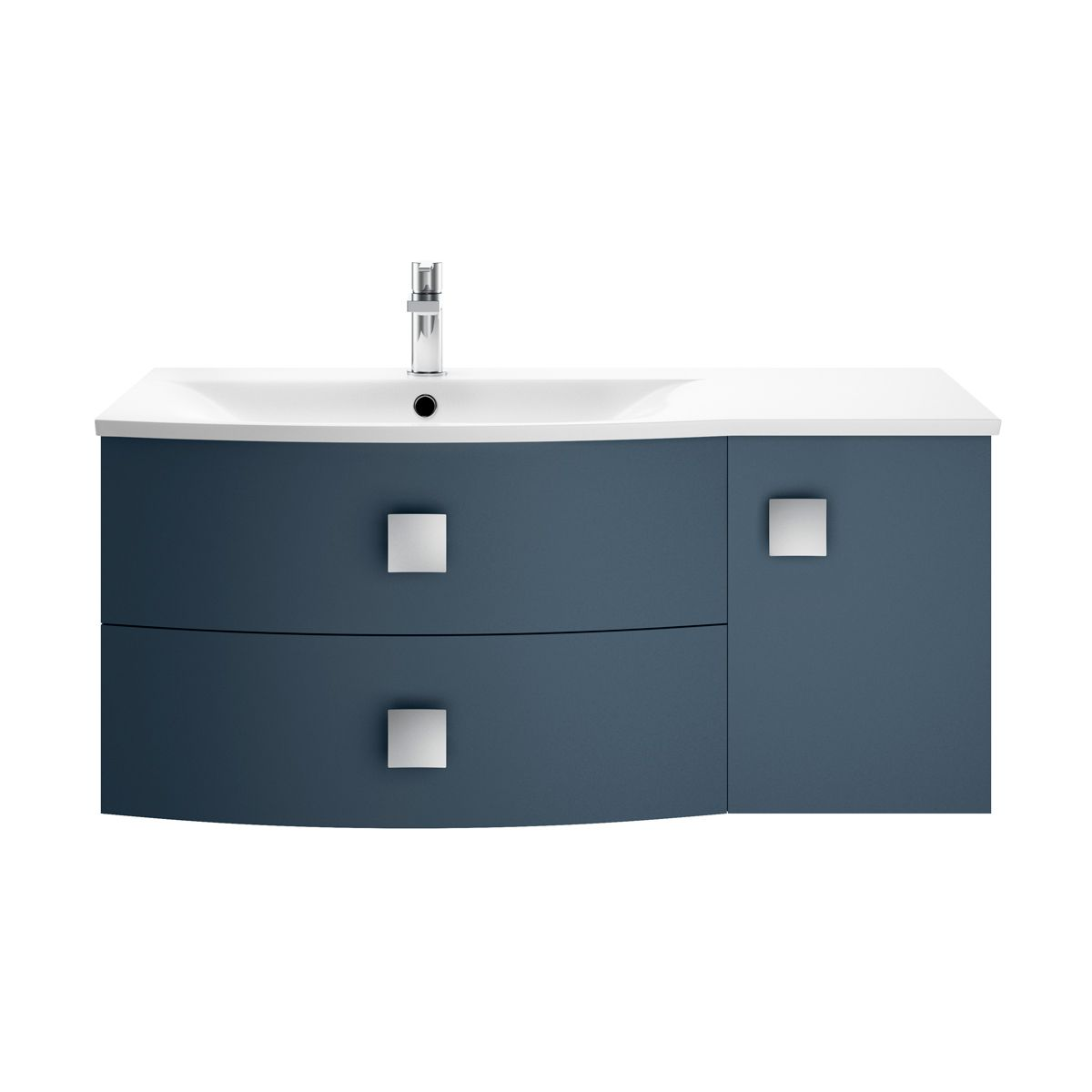 Hudson Reed Sarenna Mineral Blue Vanity Unit 1000mm Left Handed