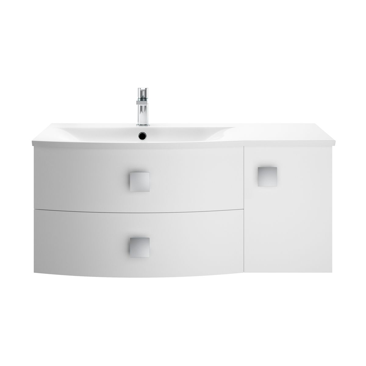 Hudson Reed Sarenna Moon White Vanity Unit 1000mm Left Handed