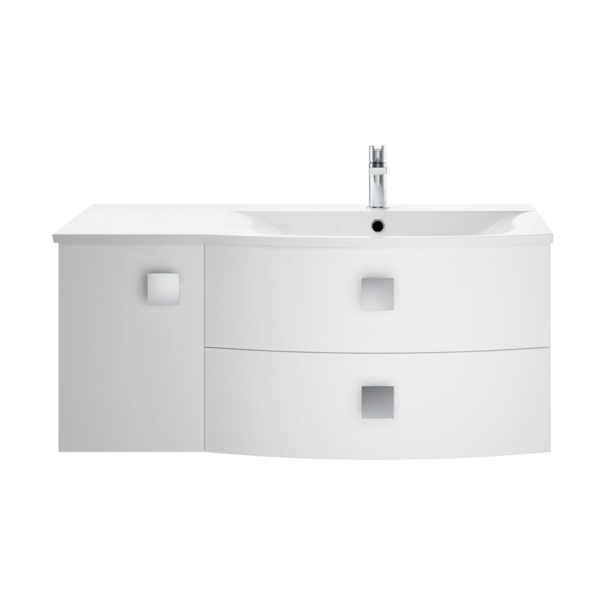 Hudson Reed Sarenna Moon White Vanity Unit 1000mm Right Handed