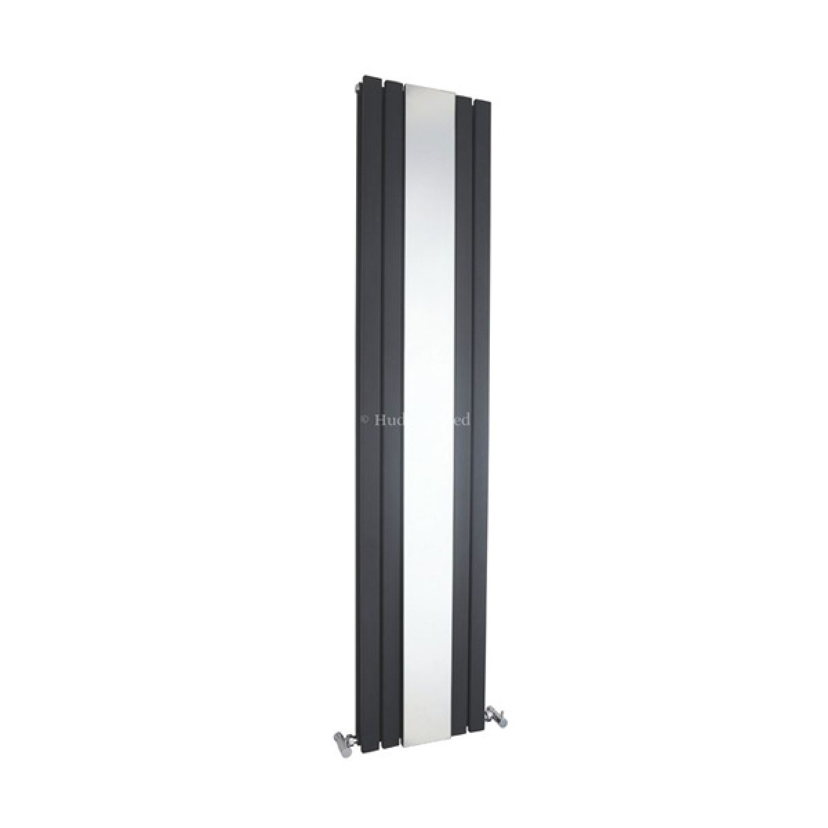 Hudson Reed Sloane Double Designer Radiator Anthracite With Mirror 1800 x 381mm