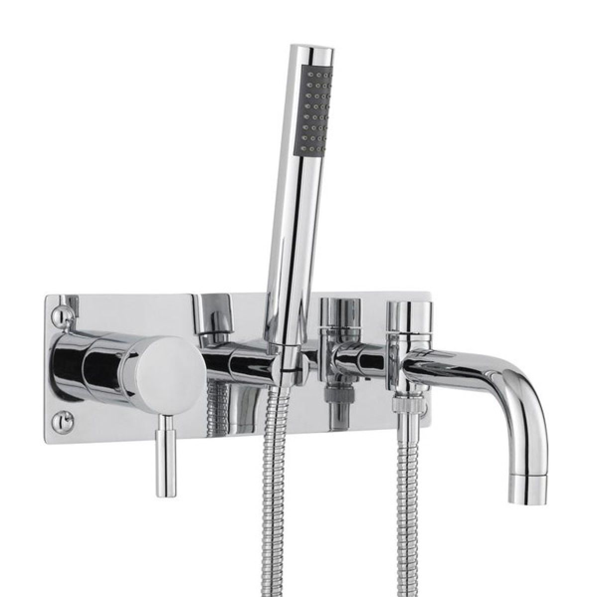 Hudson Reed Tec Single Lever Wall Mounted Bath Shower Mixer Tap